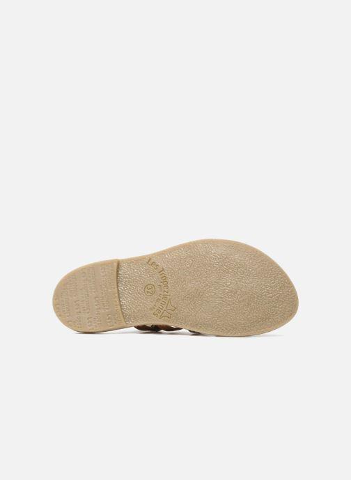 Sandales et nu-pieds Les Tropéziennes par M Belarbi Herisson E Marron vue haut