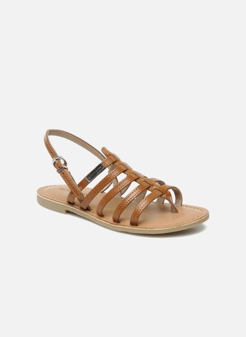 Sandales et nu-pieds Les Tropéziennes par M Belarbi Herisson E Marron vue détail/paire