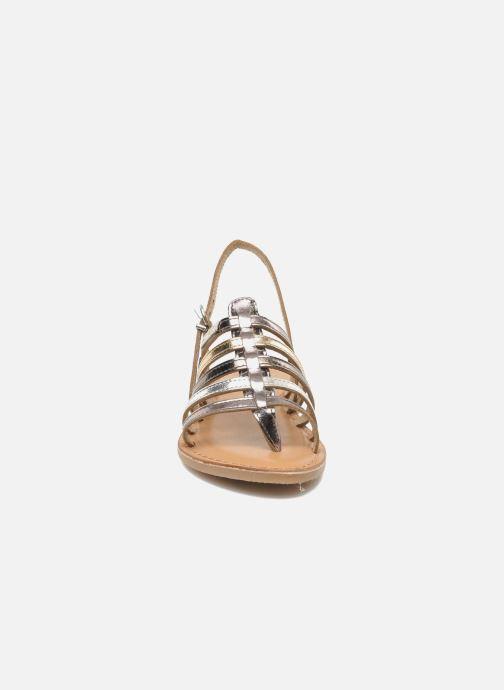 Sandales et nu-pieds Les Tropéziennes par M Belarbi Herisson E Argent vue portées chaussures
