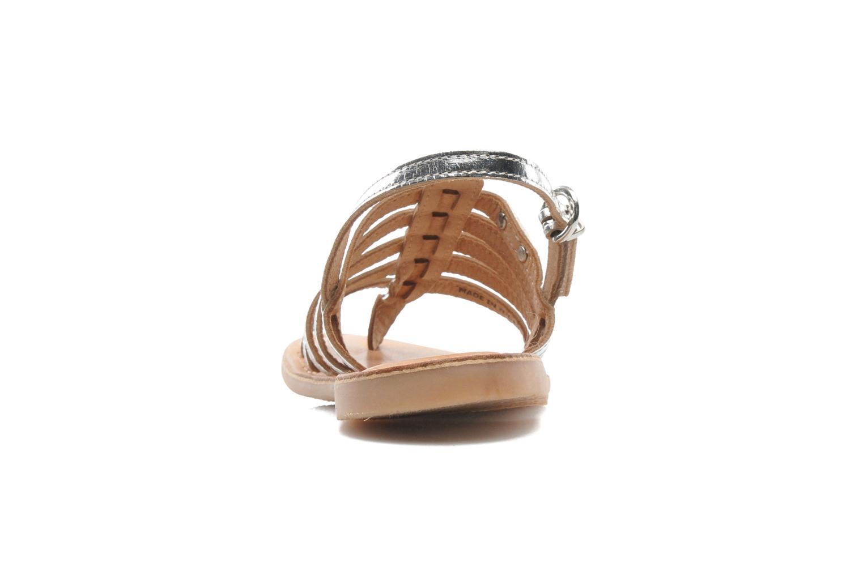 Sandales et nu-pieds Les Tropéziennes par M Belarbi Herisson E Argent vue droite