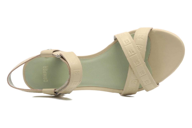 Sandales et nu-pieds Camper TWS 21631 Beige vue gauche
