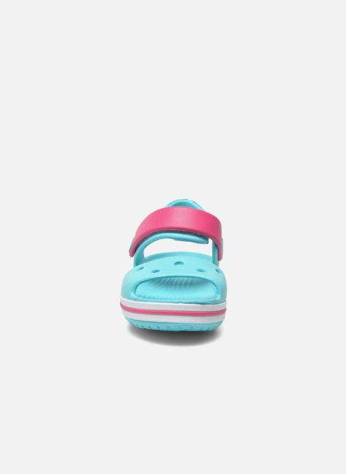 Sandalen Crocs Crocband Sandal Kids blau schuhe getragen