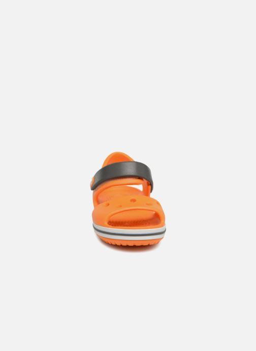 Sandales et nu-pieds Crocs Crocband Sandal Kids Orange vue portées chaussures