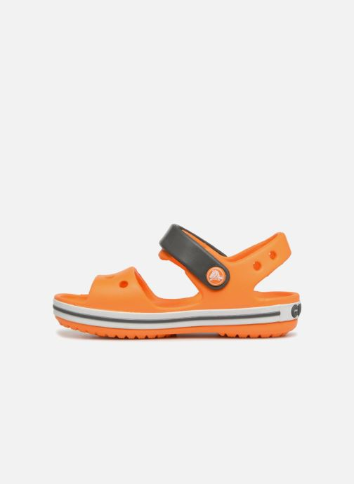 Sandalias Crocs Crocband Sandal Kids Naranja vista de frente