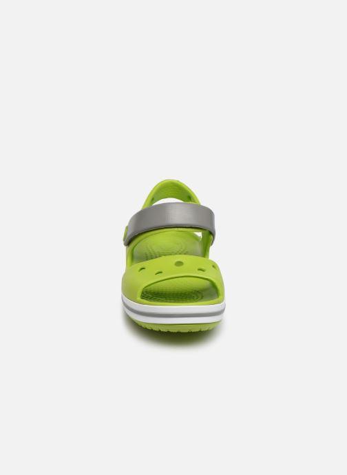Sandalen Crocs Crocband Sandal Kids grün schuhe getragen