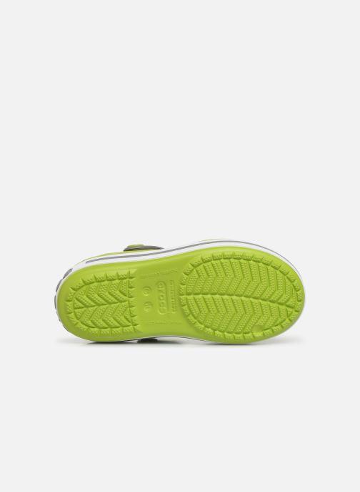 Sandales et nu-pieds Crocs Crocband Sandal Kids Vert vue haut