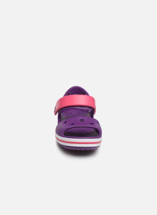 Sandales et nu-pieds Crocs Crocband Sandal Kids Violet vue portées chaussures