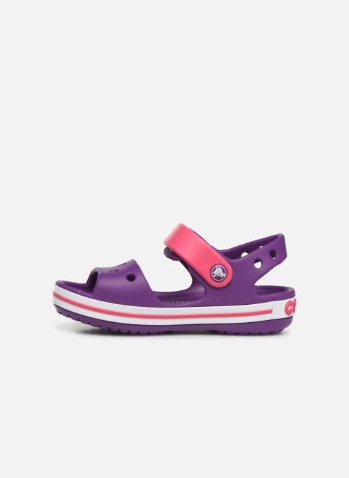 Sandales et nu-pieds Crocs Crocband Sandal Kids Violet vue face