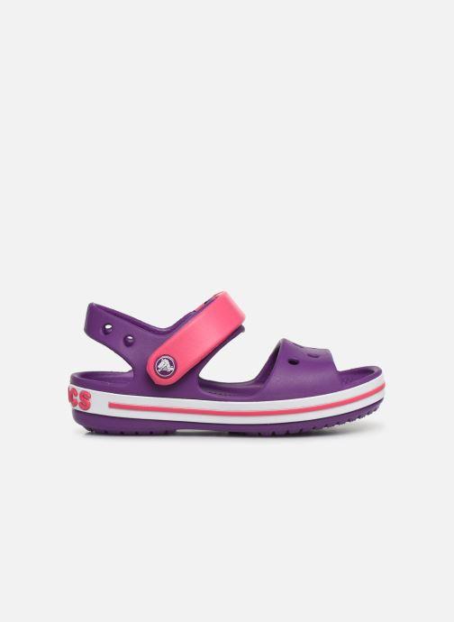Sandales et nu-pieds Crocs Crocband Sandal Kids Violet vue derrière