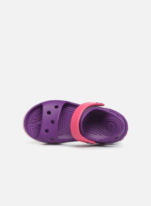 Sandales et nu-pieds Crocs Crocband Sandal Kids Violet vue gauche