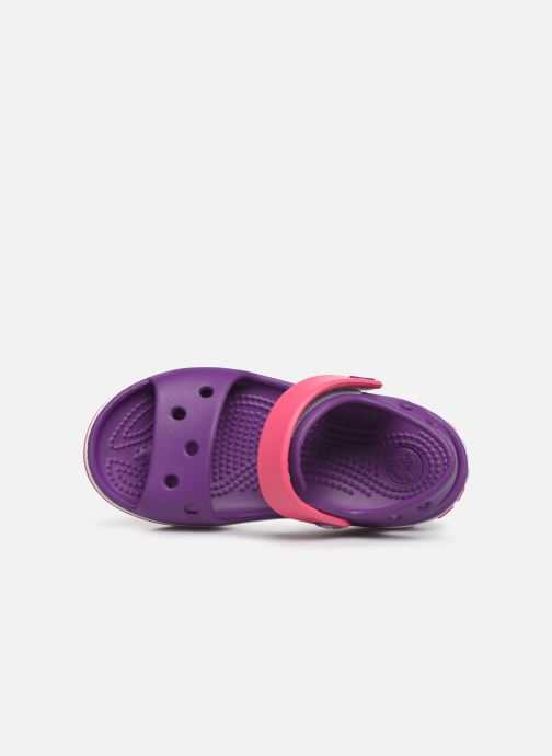 Sandals Crocs Crocband Sandal Kids Purple view from the left
