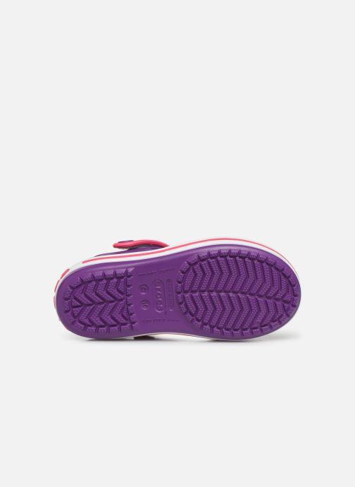 Sandales et nu-pieds Crocs Crocband Sandal Kids Violet vue haut