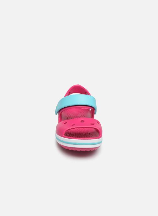 Sandales et nu-pieds Crocs Crocband Sandal Kids Rose vue portées chaussures