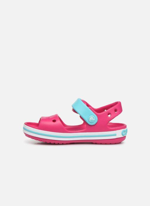 Sandals Crocs Crocband Sandal Kids Pink front view