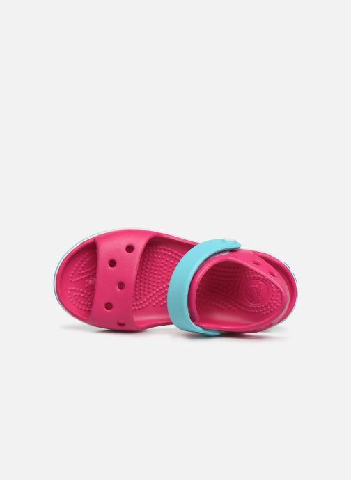 Sandales et nu-pieds Crocs Crocband Sandal Kids Rose vue gauche