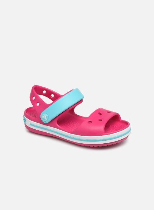 Sandales et nu-pieds Crocs Crocband Sandal Kids Rose vue détail/paire