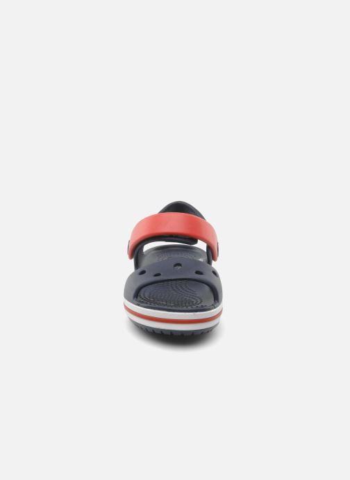 Sandales et nu-pieds Crocs Crocband Sandal Kids Bleu vue portées chaussures