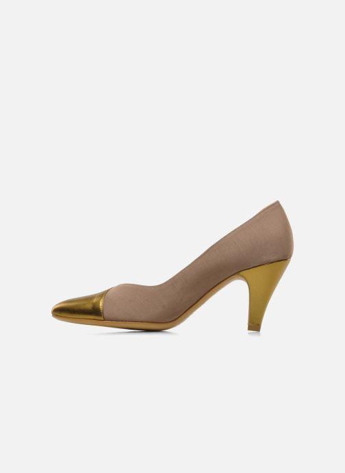 Zapatos de tacón Atelier Mercadal Escarpin Vintage Vava Oro y bronce vista de frente