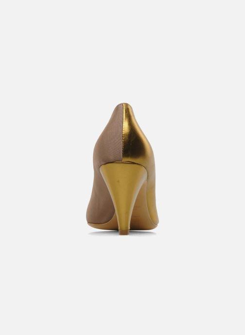 Zapatos de tacón Atelier Mercadal Escarpin Vintage Vava Oro y bronce vista lateral derecha