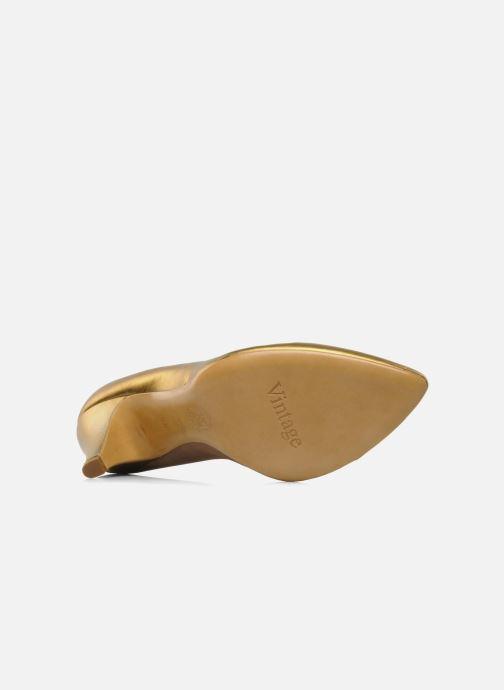 Zapatos de tacón Atelier Mercadal Escarpin Vintage Vava Oro y bronce vista de arriba
