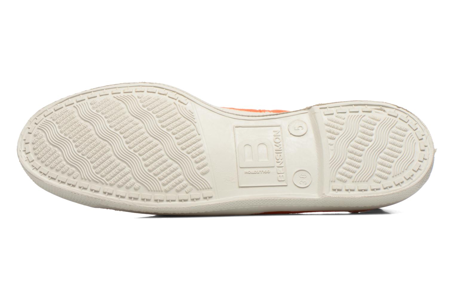 Trainers Bensimon Tennis Lacets Orange view from above
