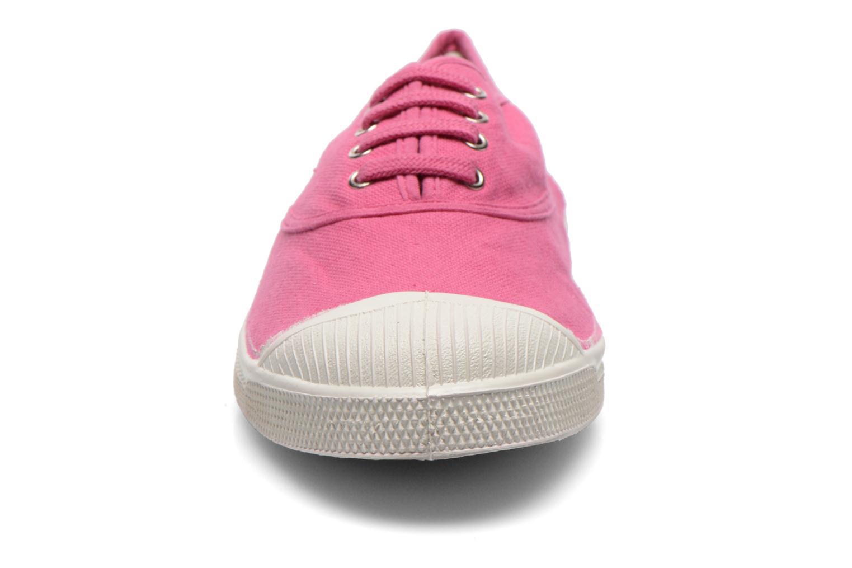 Baskets Bensimon Tennis Lacets Rose vue portées chaussures