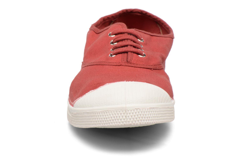 Baskets Bensimon Tennis Lacets Rouge vue portées chaussures