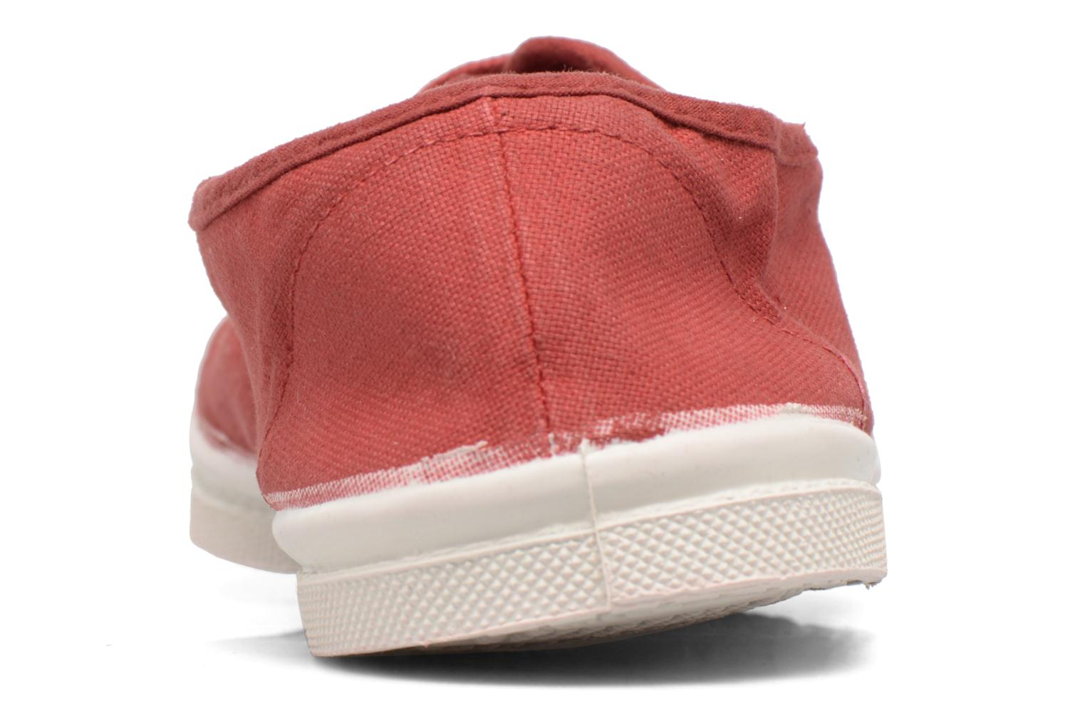 Trainers Bensimon Tennis Lacets Red view from the right