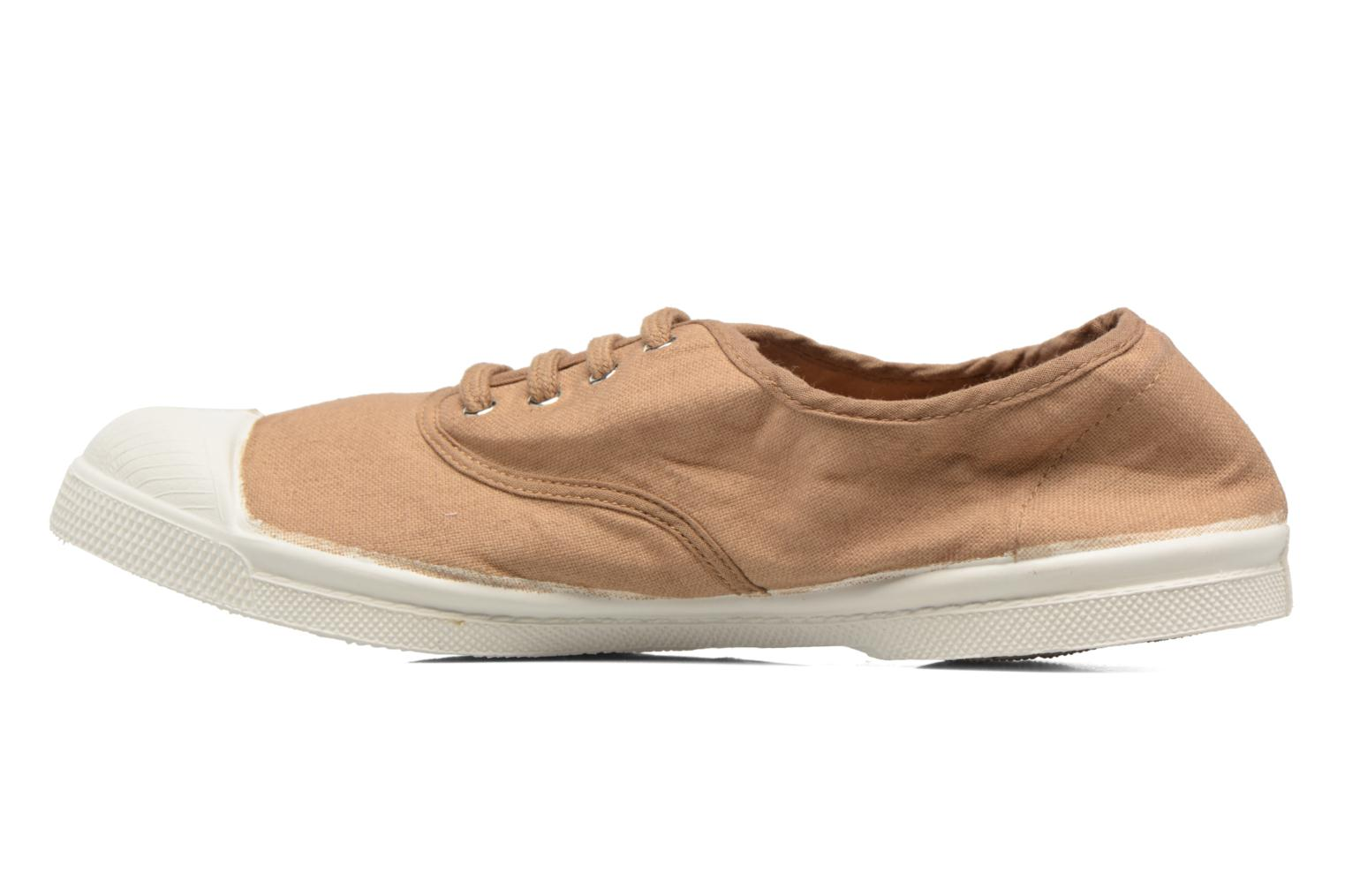 Baskets Bensimon Tennis Lacets Beige vue face