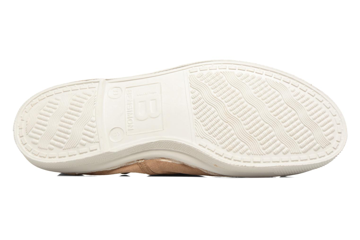 Baskets Bensimon Tennis Lacets Beige vue haut