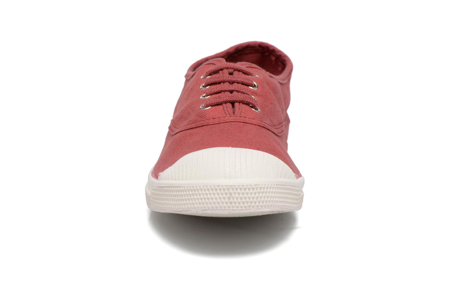 Trainers Bensimon Tennis Lacets Burgundy model view
