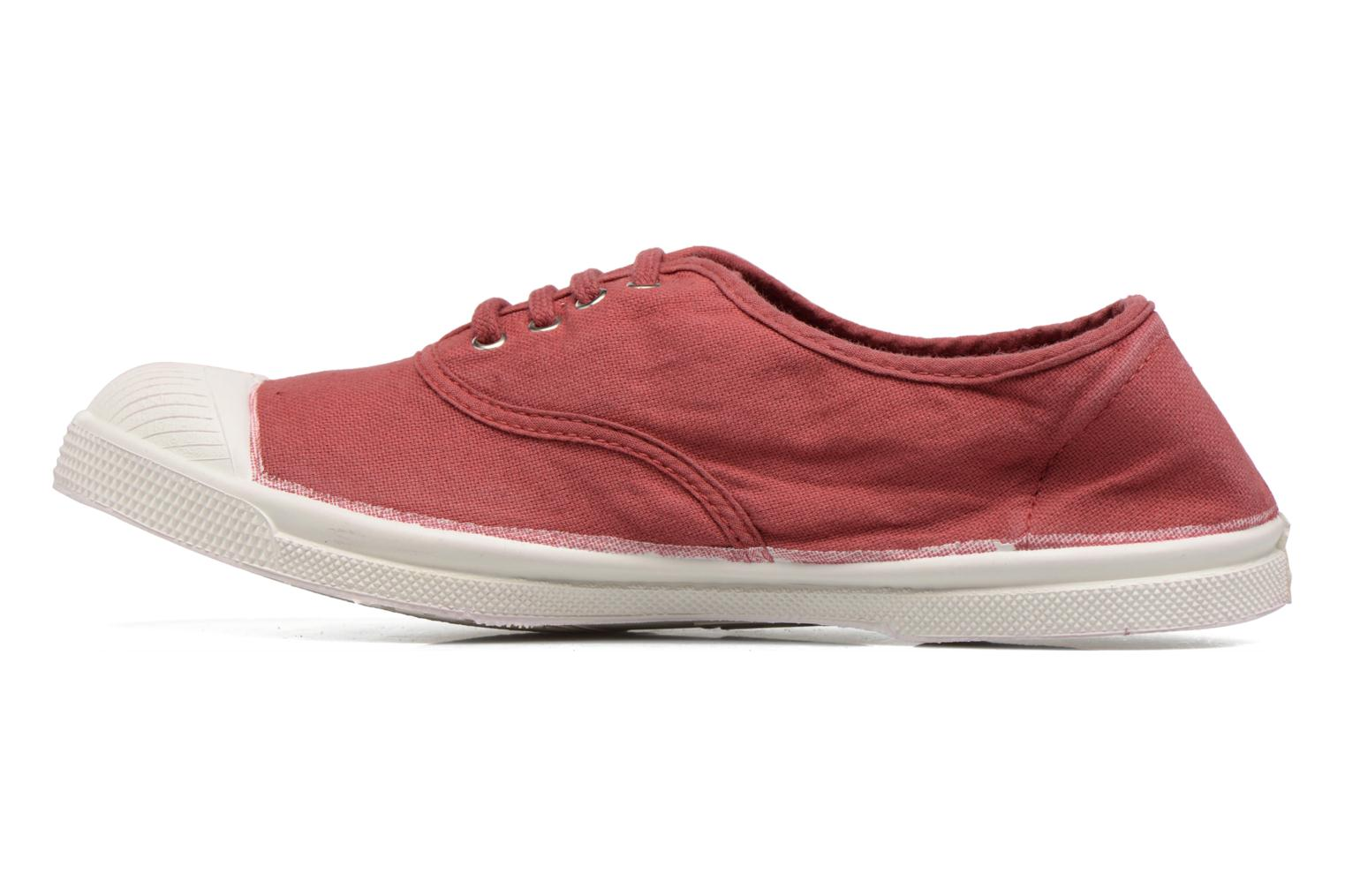 Baskets Bensimon Tennis Lacets Bordeaux vue face
