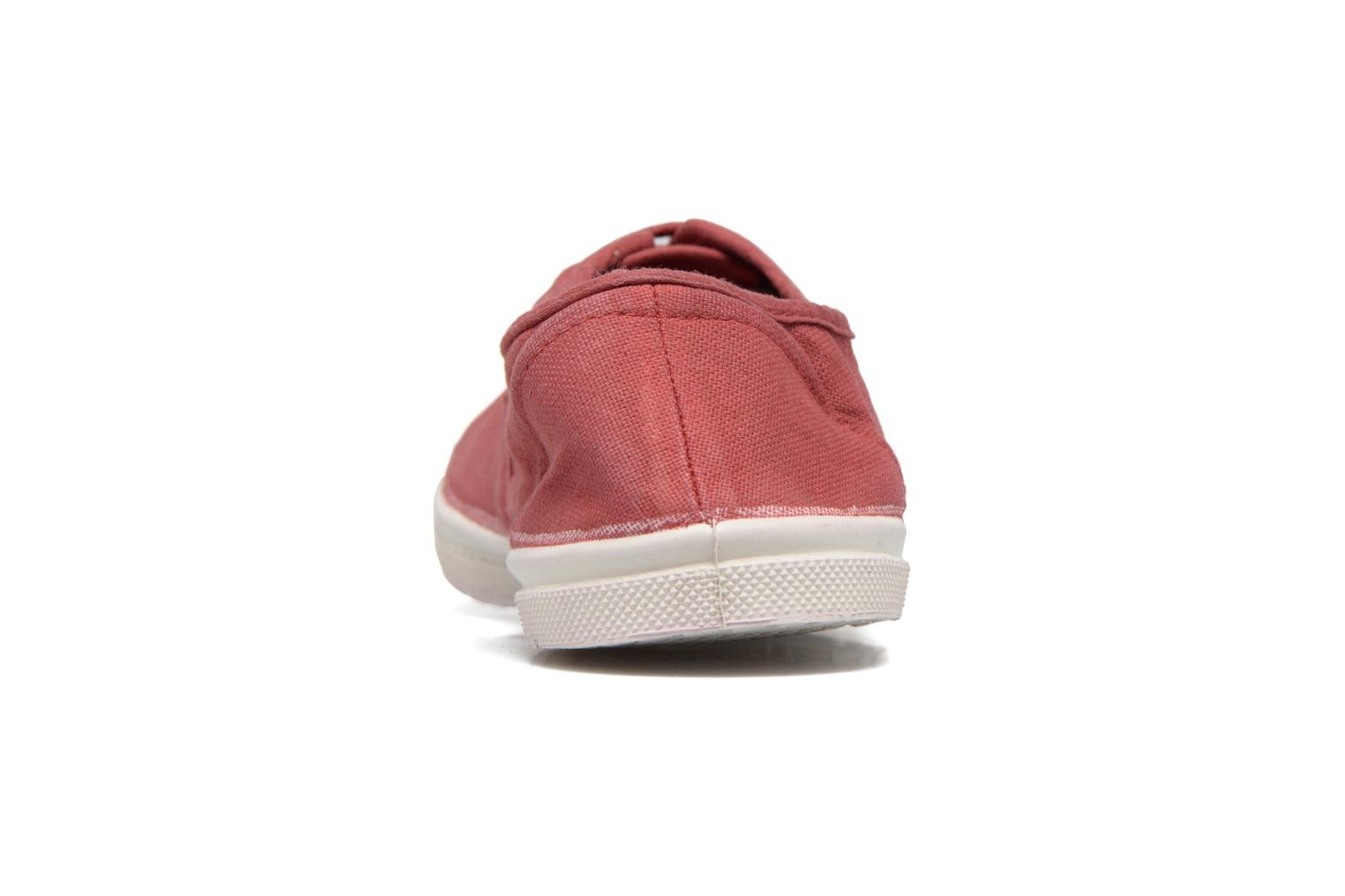 Trainers Bensimon Tennis Lacets Burgundy view from the right