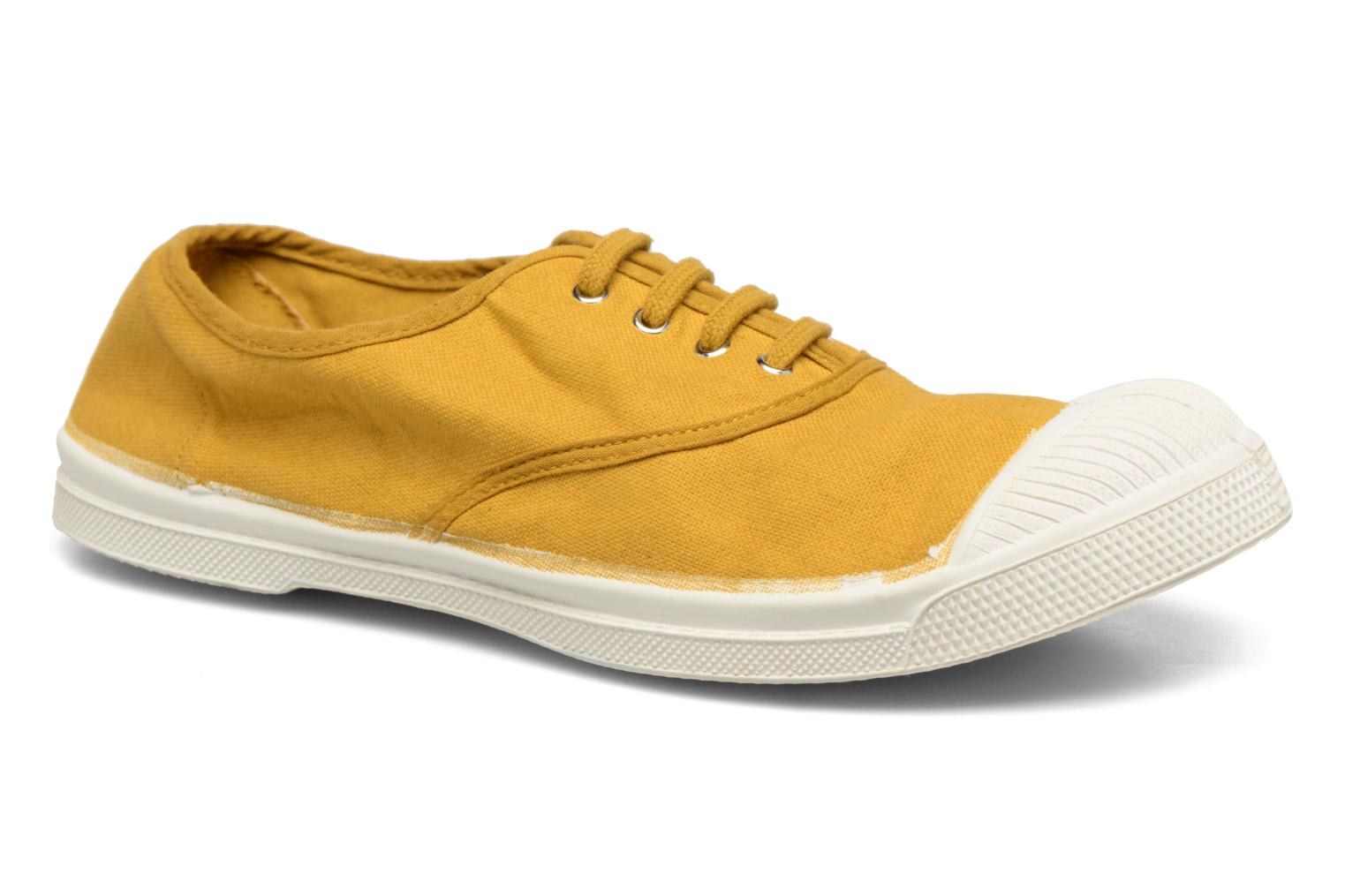 Trainers Bensimon Tennis Lacets Yellow detailed view/ Pair view