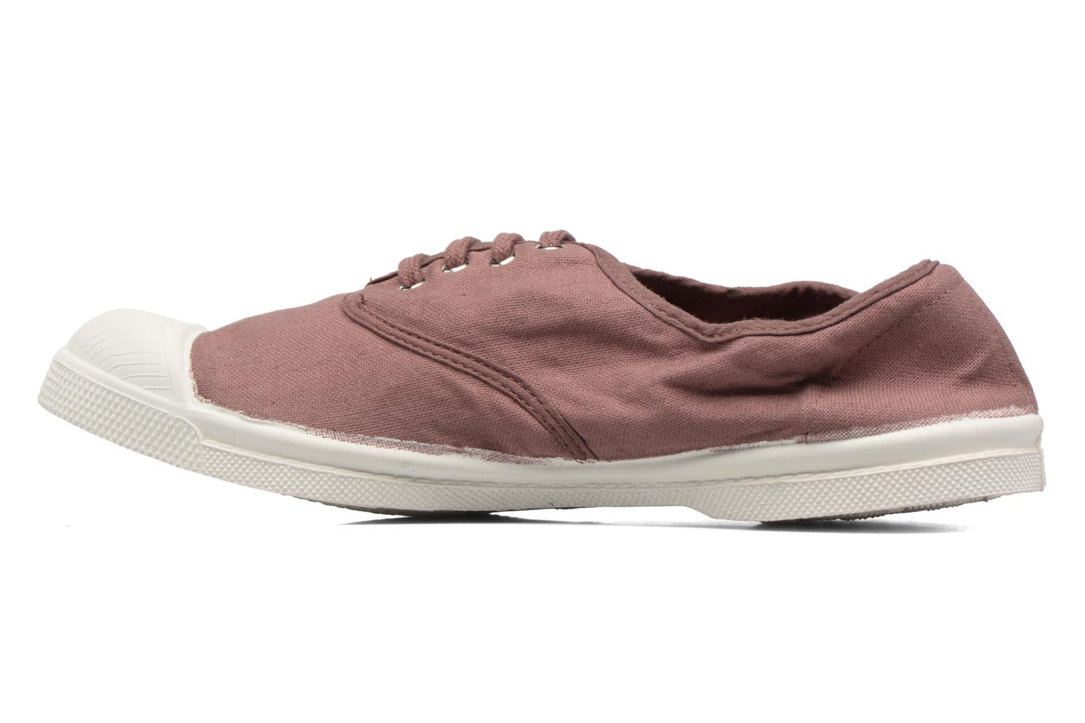 Baskets Bensimon Tennis Lacets Rose vue face