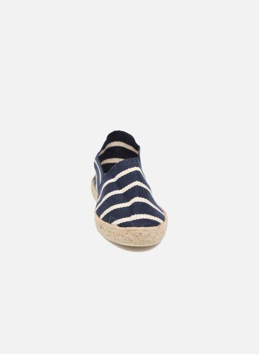Espadrilles La maison de l'espadrille Sabline Rayure E Bleu vue portées chaussures