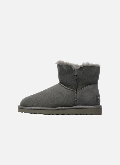 Stiefeletten & Boots UGG Mini bailey button grau ansicht von vorne