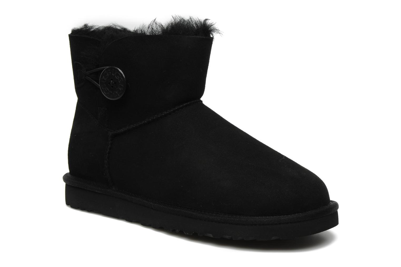 Bottines et boots UGG Mini bailey button Noir vue détail/paire