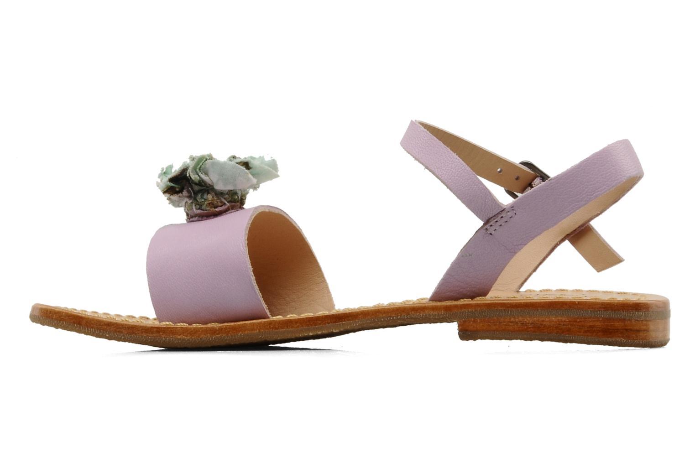 Sandales et nu-pieds Mellow Yellow Lorqua Violet vue face