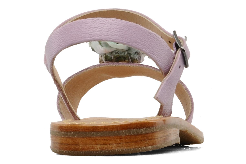 Sandales et nu-pieds Mellow Yellow Lorqua Violet vue droite