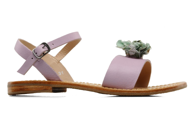Sandales et nu-pieds Mellow Yellow Lorqua Violet vue derrière