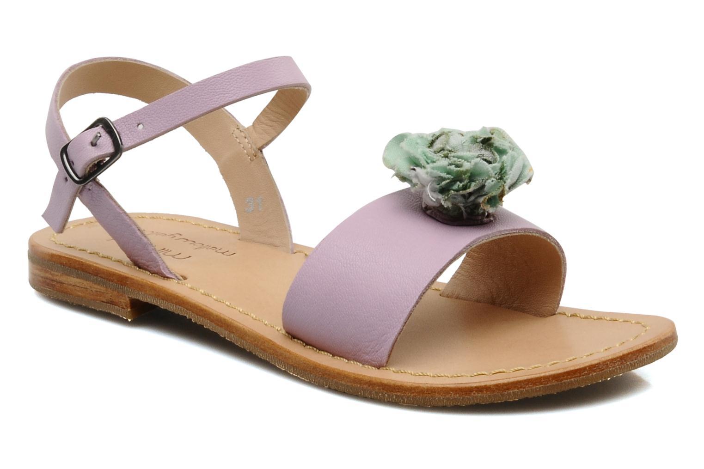 Sandales et nu-pieds Mellow Yellow Lorqua Violet vue détail/paire