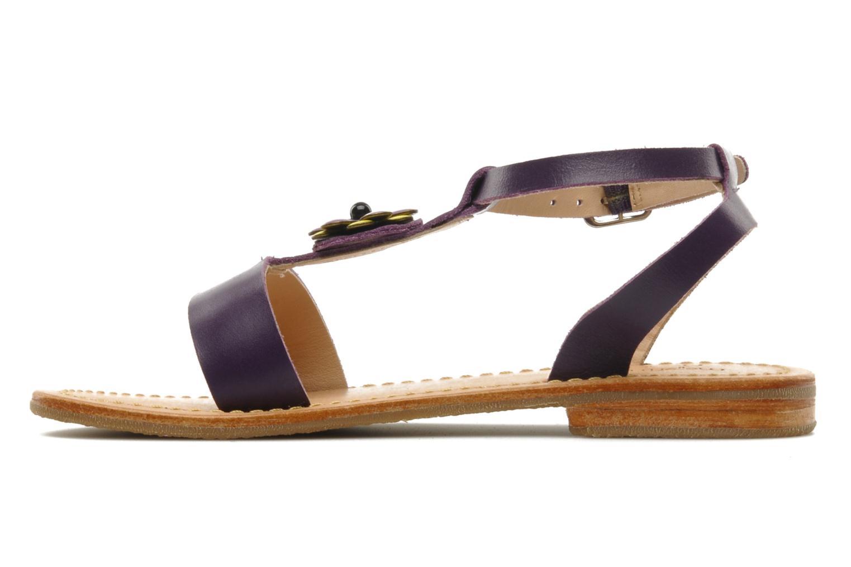 Sandales et nu-pieds Mellow Yellow Lumanji Violet vue face