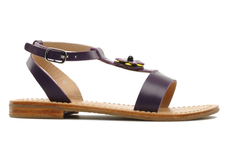 Sandales et nu-pieds Mellow Yellow Lumanji Violet vue derrière