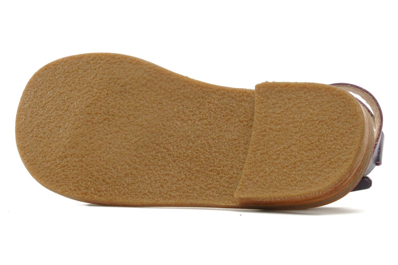 Sandales et nu-pieds Mellow Yellow Lumanji Violet vue haut