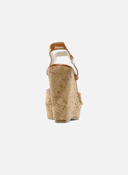 Sandales et nu-pieds Georgia Rose Flica Marron vue droite