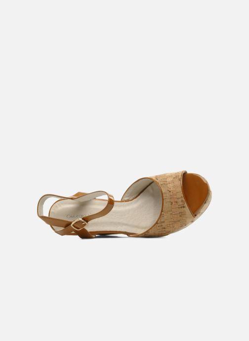 Sandales et nu-pieds Georgia Rose Flica Marron vue gauche