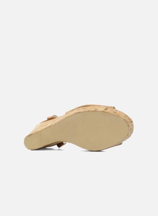 Sandales et nu-pieds Georgia Rose Flica Marron vue haut