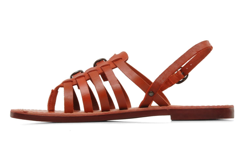 Sandales et nu-pieds Kickers Dixmille Rouge vue face