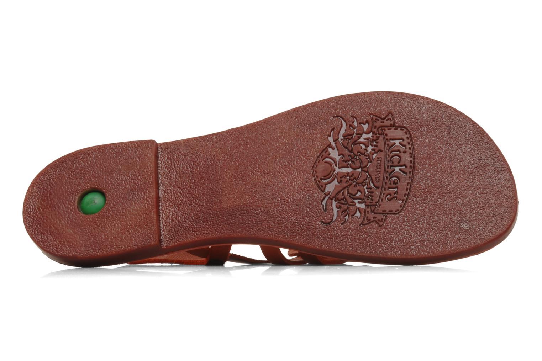 Sandales et nu-pieds Kickers Dixmille Rouge vue haut